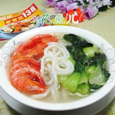 虾干青菜乌冬面