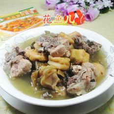 小油豆腐酸菜煮龙骨