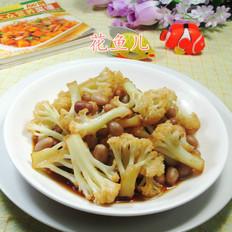 花生米炒花菜