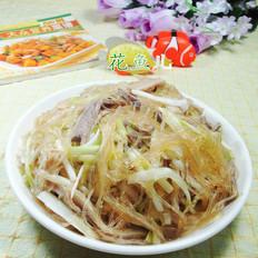 韭菜芽猪肚炒粉丝
