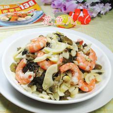 酸菜虾肉炒雷笋