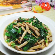 韭菜五花肉蟹味菇