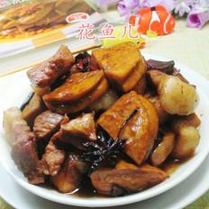 鲜素鸡烧五花肉