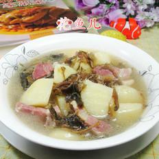 梅干菜咸肉煮土豆