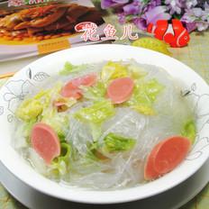 火腿肠牛心菜粉丝