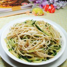 金针菇拌青瓜