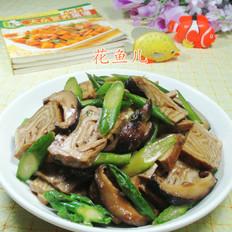 香菇芦笋炒香糕