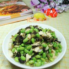 雪菜腐竹炒毛豆