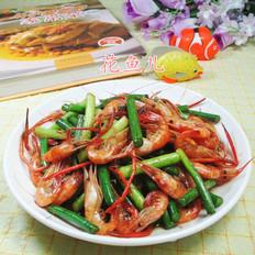蒜薹炒河虾
