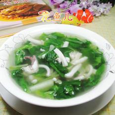 小白菜鱿鱼汤