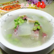 毛豆咸肉冬瓜汤