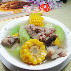 丝瓜玉米筒骨汤