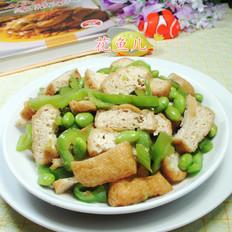 尖椒油豆腐炒毛豆