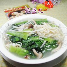 蟹味菇青菜汤面