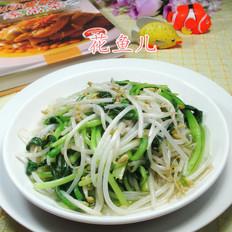 鸡毛菜炒绿豆芽