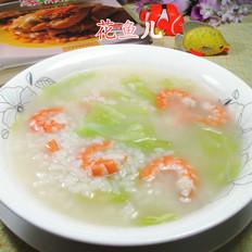 虾肉圆白菜泡饭