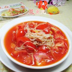 番茄炒金针菇