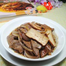 洋葱香干炒猪肝