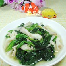 平菇炒菠菜