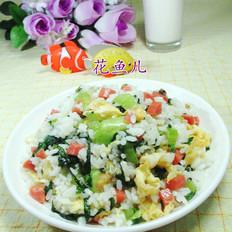 鸡蛋火腿肠青菜炒饭