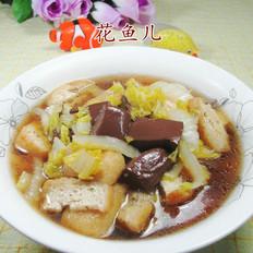 油豆腐鸭血煮娃娃菜