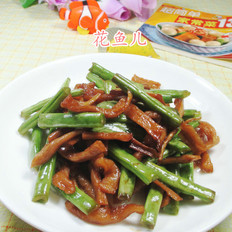 萝卜干炒梅豆