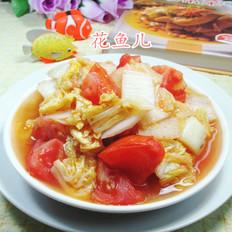 番茄炒娃娃菜