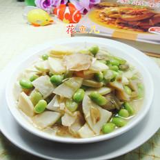 榨菜冬笋炒毛豆