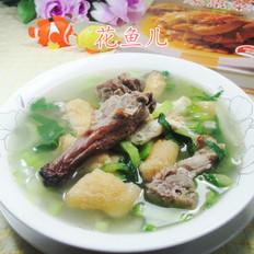 鸭骨油豆腐青菜汤