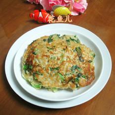 青菜燕麦饼