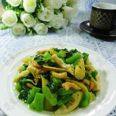 海米笋尖炒菜心