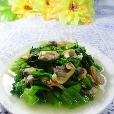 花蛤肉炒菜心