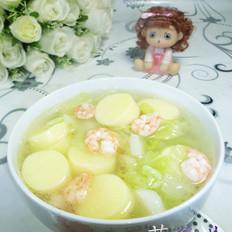 虾仁大白菜豆腐汤