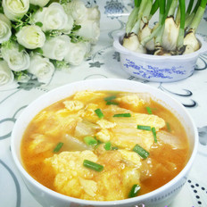 里脊肉大白菜鸡蛋汤