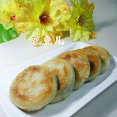 核桃仁芝麻粉馅糯米饼
