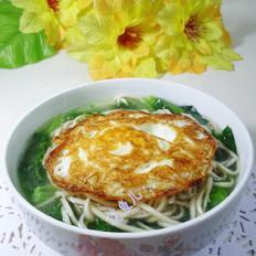 煎鸡蛋油菜蕻荞麦面