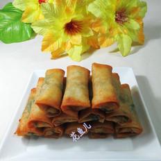 香干芹菜叶春卷