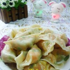 韭菜苔鸡蛋胡萝卜饺子