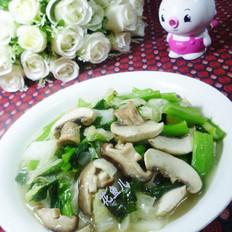 双菇炒双菜