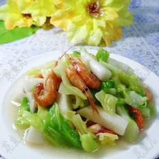 河虾包心菜炒年糕