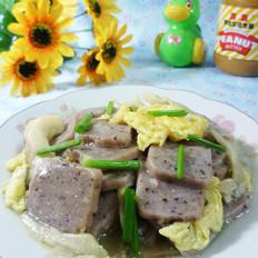 平菇鸡蛋炒红豆年糕