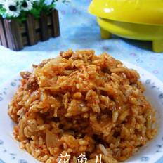 瘦肉丝泡菜炒饭