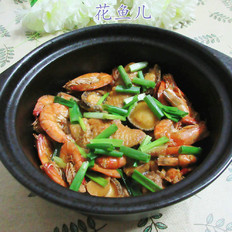 鸡翅中鲜虾鲍鱼煲
