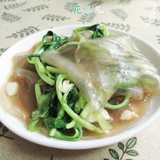 粉皮炒鸡毛菜