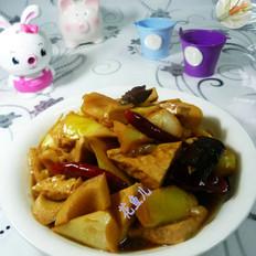 豆腐干烧竹笋