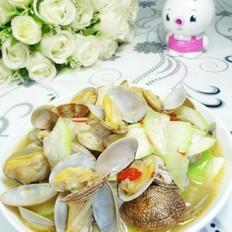 花蛤炒蒲瓜