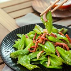 火腿炒尖椒