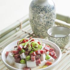 火腿青豆蒸豆腐