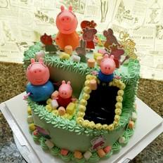 佩琪一家场景蛋糕