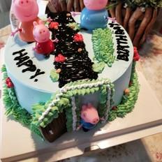 佩琪一家蛋糕